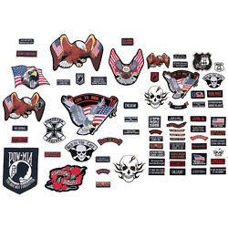 Kyпить PATCH SET Assorted 20pc Embroidered Badge Motorcycle Biker Vest Jacket USA Flag на еВаy.соm