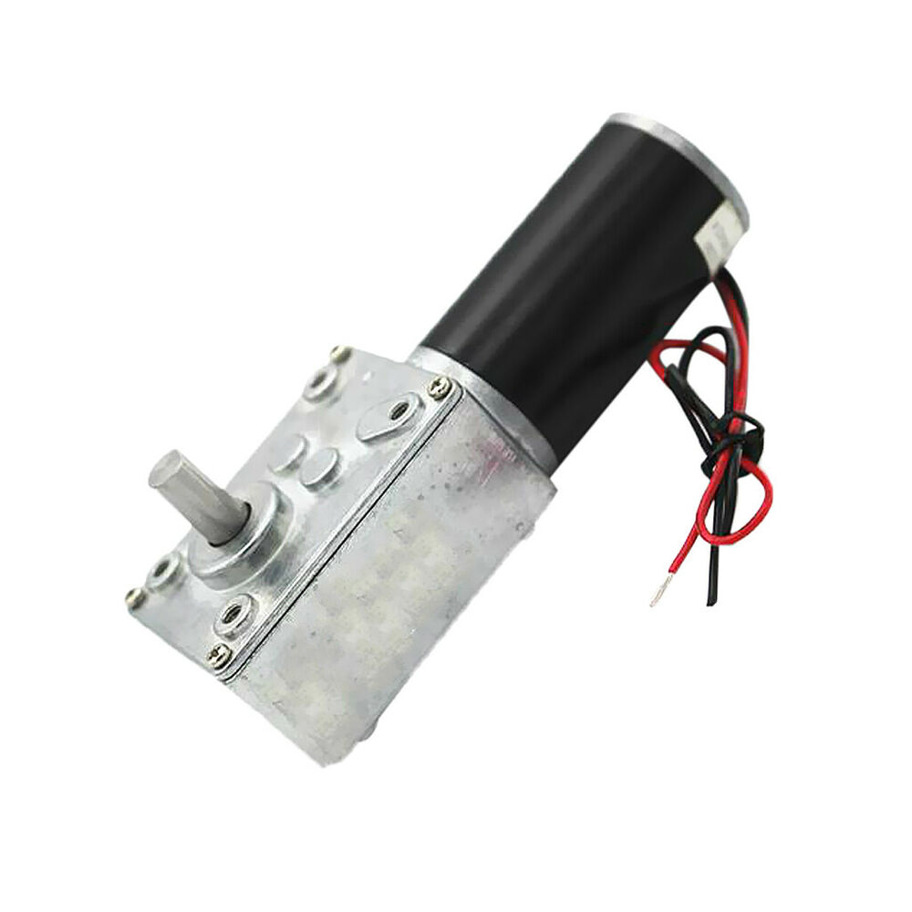Electric high torque turbo worm gearbox geared motor dc for Electric motor with gearbox