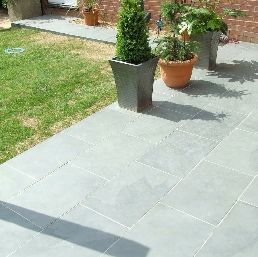 Details About Grey Slate Paving Garden Tiles Not Slabs 600x400 Sample Free Delivery