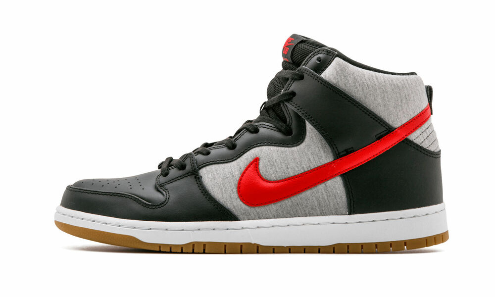 official photos 83ddf c8053 Nike DUNK HIGH PRO SB Black University Red Medium Grey (D) (355) Men s Shoes    eBay