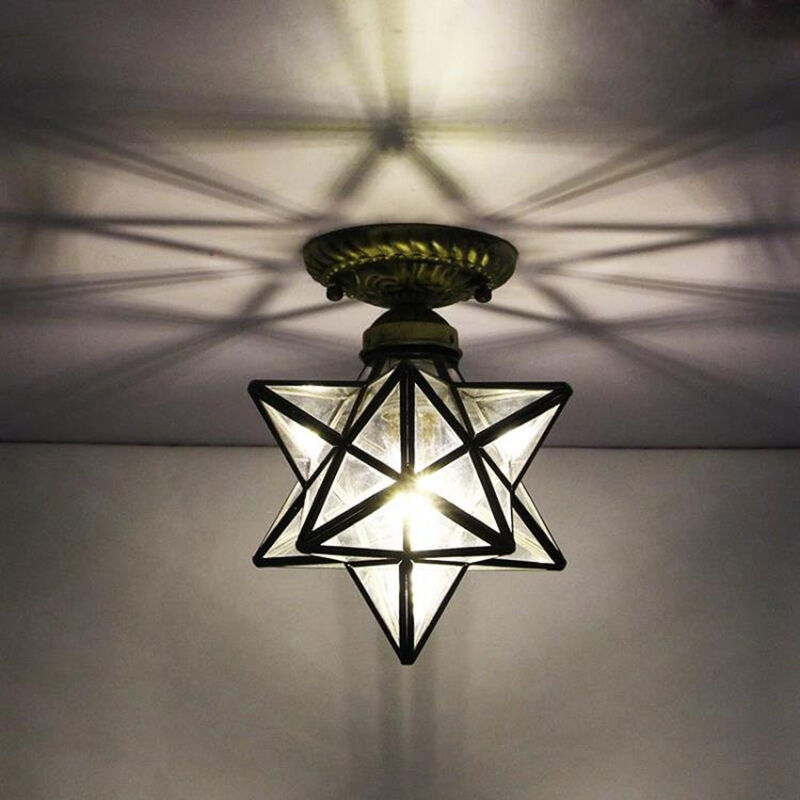 led glass ceiling light hallway closet lighting fixtures entrance ceiling lamp ebay. Black Bedroom Furniture Sets. Home Design Ideas