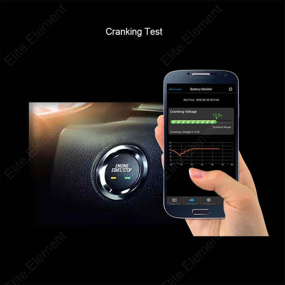 12v Rv Battery Monitor : Car auto rv bluetooth battery monitor device v