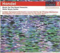 HANDEL MUSIC FOR THE ROYAL FIREWORKS, WATER MUSIC SUITES - 2 CD BOX SET