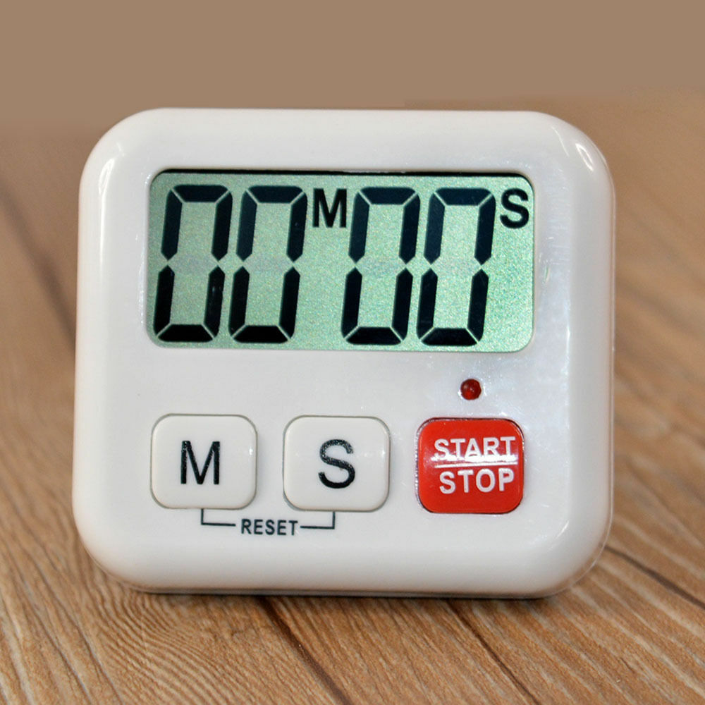 Kitchen Clock Digital LCD Cooking Timer Sport Count Down Up Portable Alarm  UK