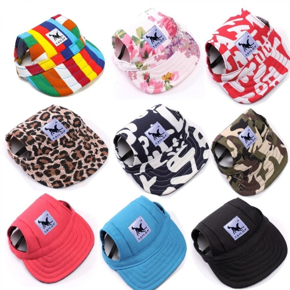 Details about Tail Up Pet Dog Hat Baseball Hat Summer Canvas Cap Only For  Small Pet Dog Top 3feafd7c5d2b