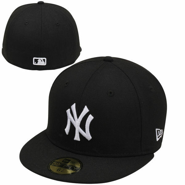 cd26fd30b4d44 Details about NEW YORK YANKEES NEW ERA 5950 FITTED CAP HAT BLACK WHITE NWT  MLB ON FIELD NY