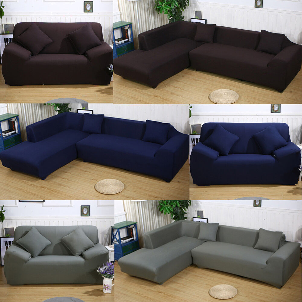 New Slipcover Stretch Sofa Cover Sofa With Loveseat Chair: Elastic Sofa Cover 2 3 4 Seat Stretch Slipcover Couch