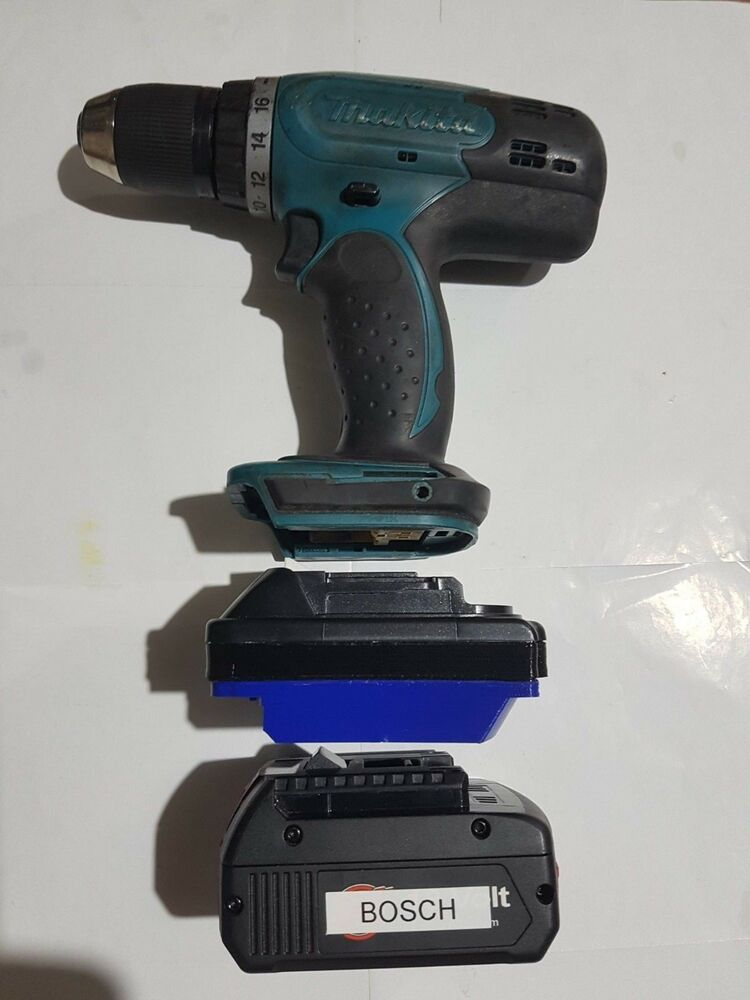 Bosch 18v Battery Adapter To Makita Lxt Powertools Ebay