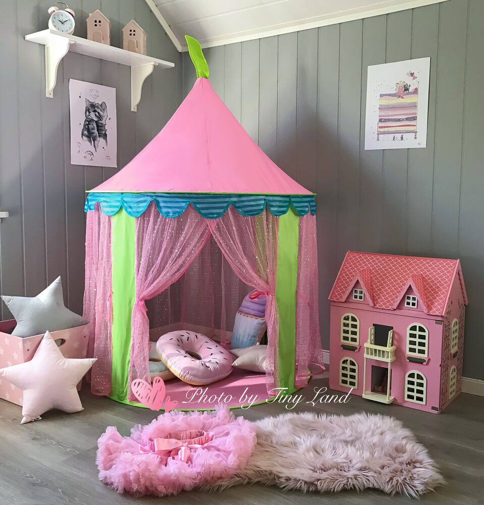 children kid pop up play tent princess girl pink playhouse. Black Bedroom Furniture Sets. Home Design Ideas