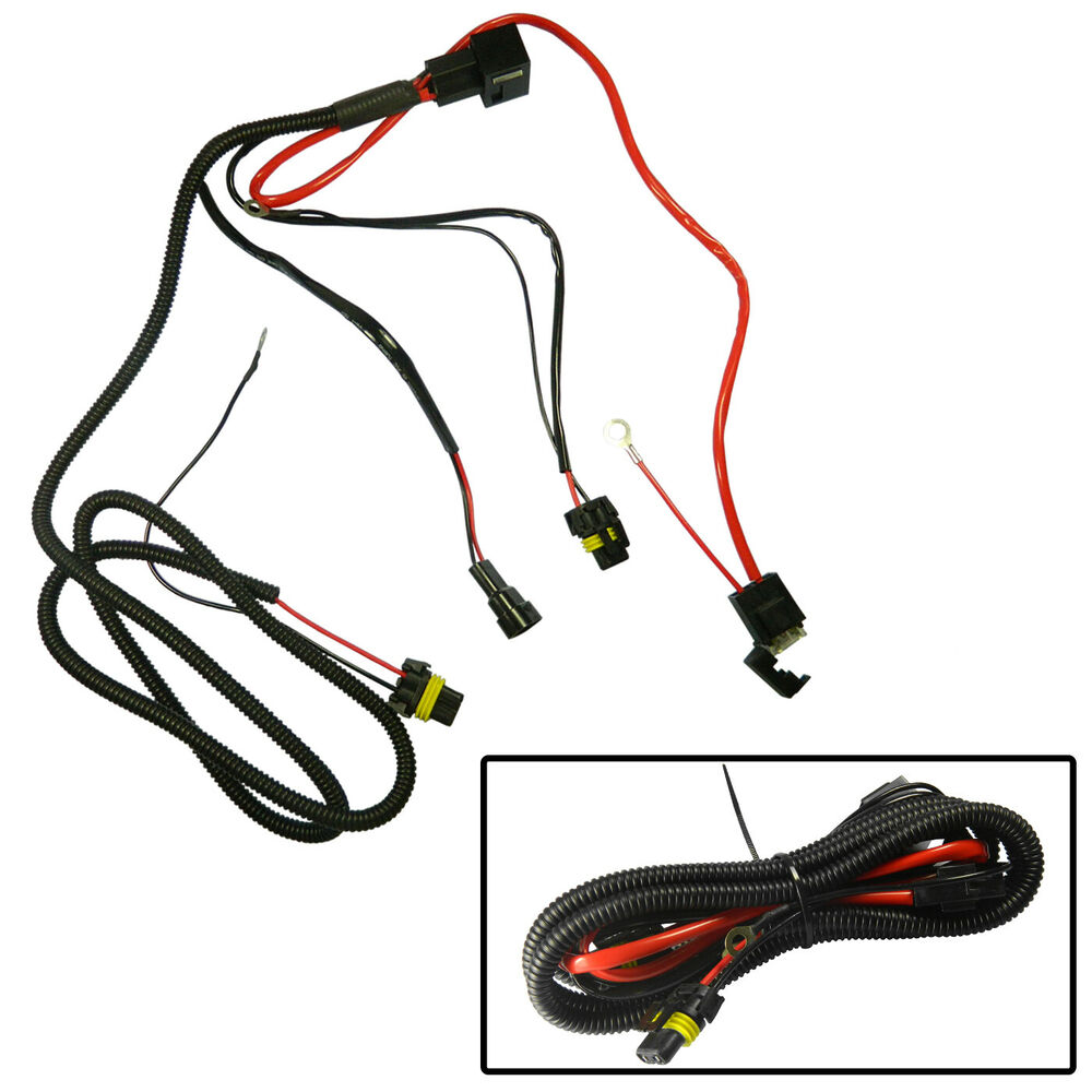 Battery Relay Wiring Harness Adapter Pigtail For 9005 9006 H1 H7 H11 ...