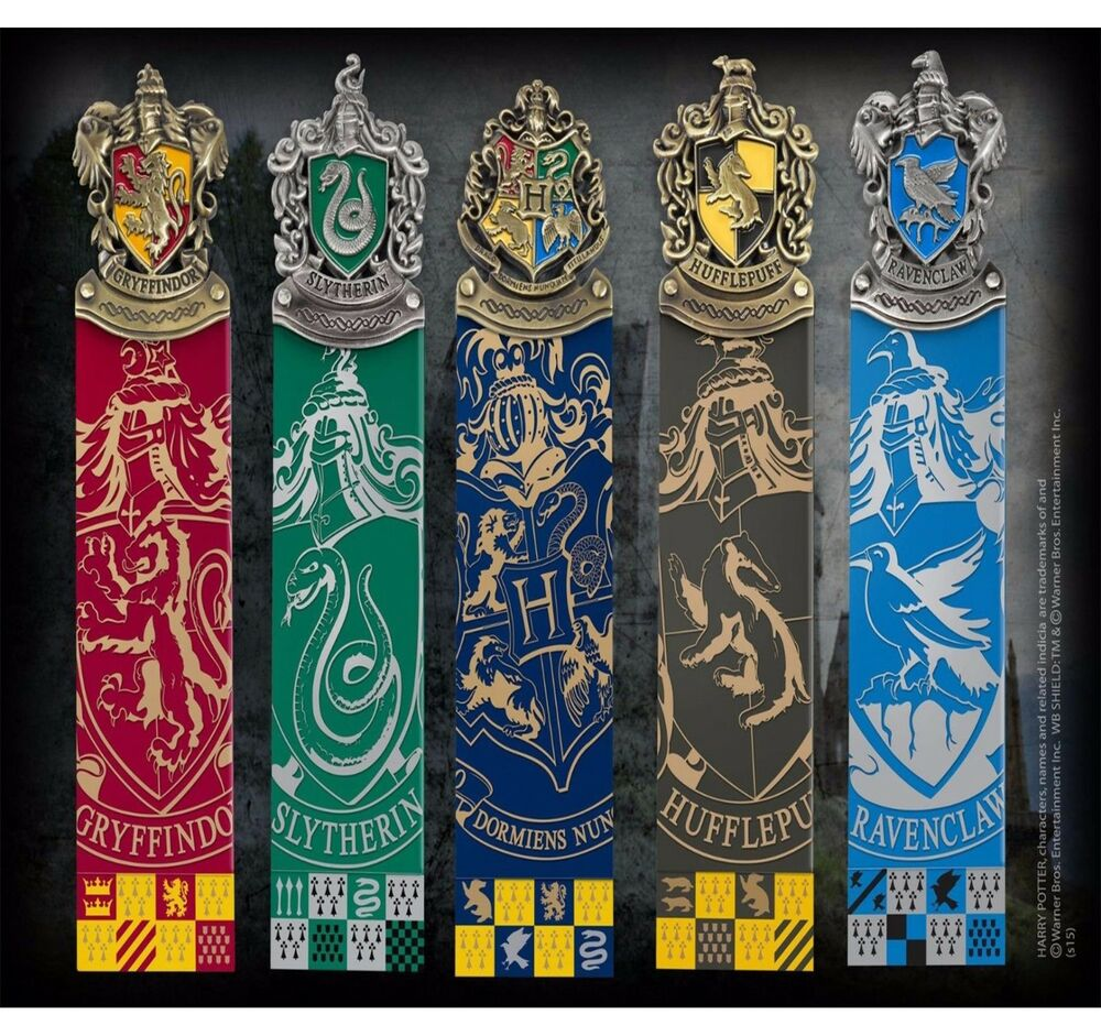 harry potter hogwarts house crest bookmarks official noble new uk licensed ebay. Black Bedroom Furniture Sets. Home Design Ideas