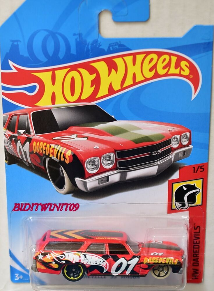hot wheels 2018 hw daredevils 70 chevelle ss wagon red ebay. Black Bedroom Furniture Sets. Home Design Ideas