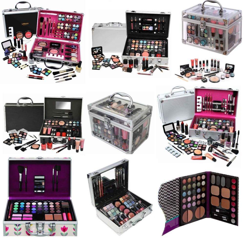 vanity case girls make up beauty cosmetic sets gift travel carry box xmas gift ebay. Black Bedroom Furniture Sets. Home Design Ideas