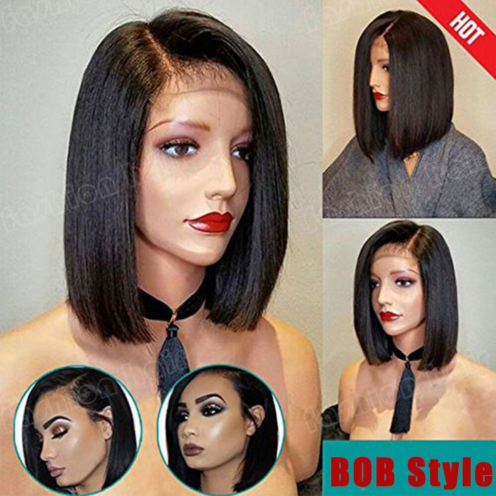 Top Remy Human Hair Bob Wig Women Lace Front Wig Straight