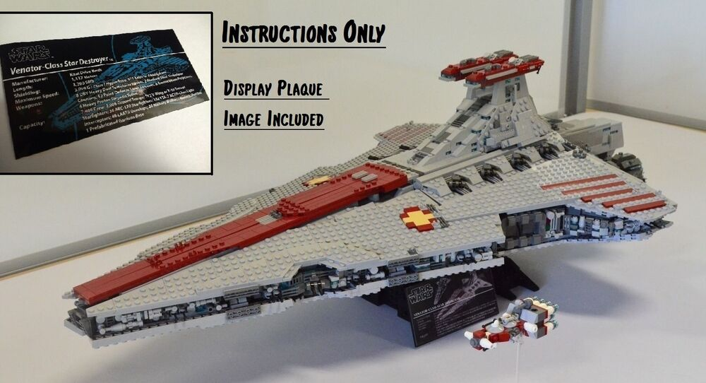 ucs lego star wars venator class star destroyer usb instructions only ebay. Black Bedroom Furniture Sets. Home Design Ideas