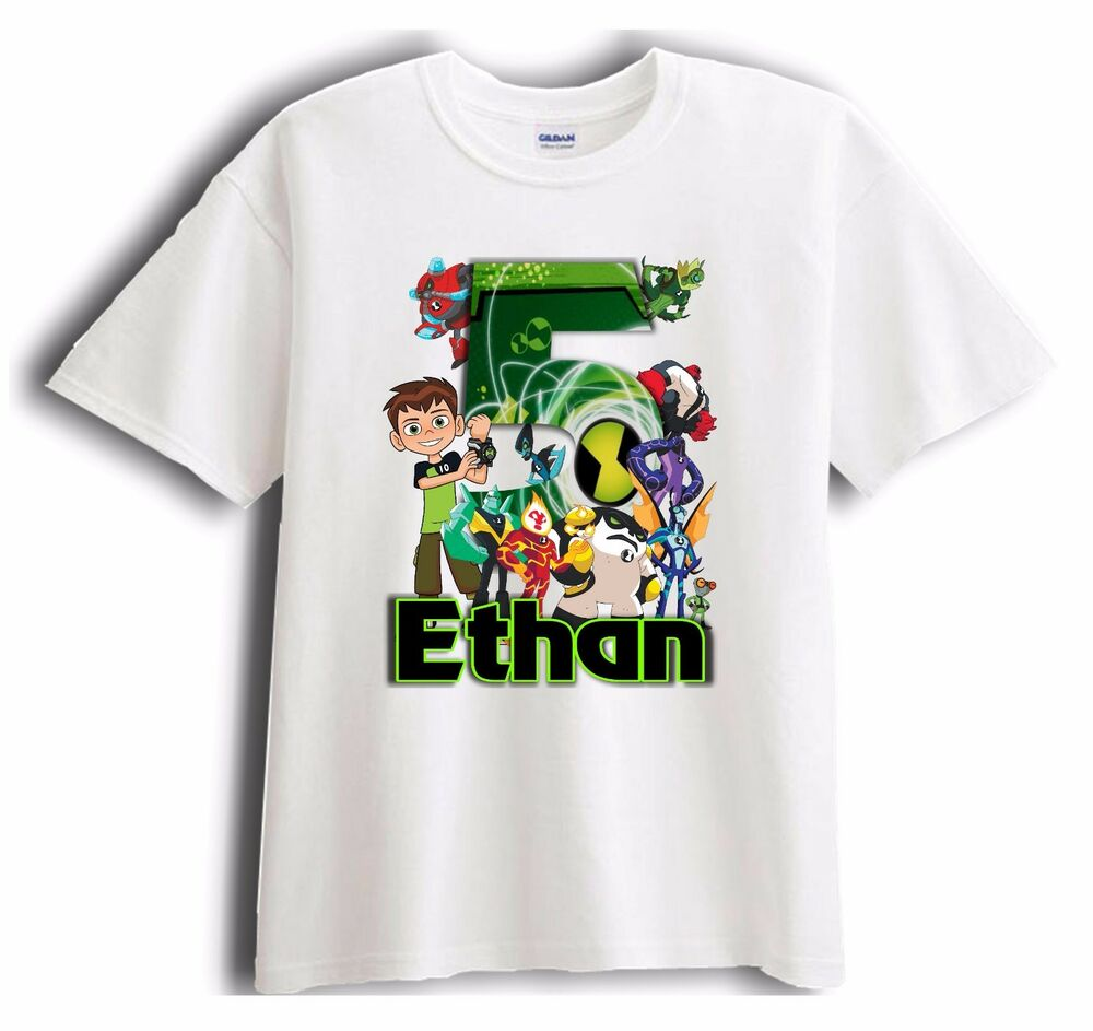 New custom ben 10 personalized birthday t shirt party for Custom t shirts under 10