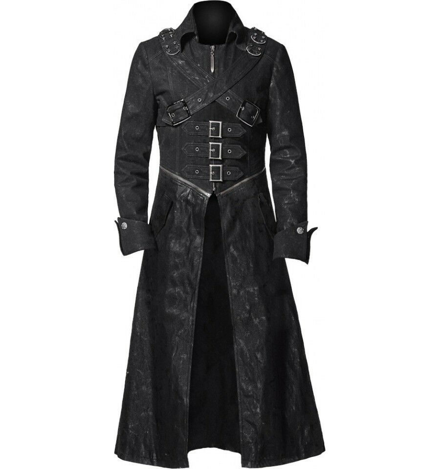 Gothic Leather Trench Coat | eBay