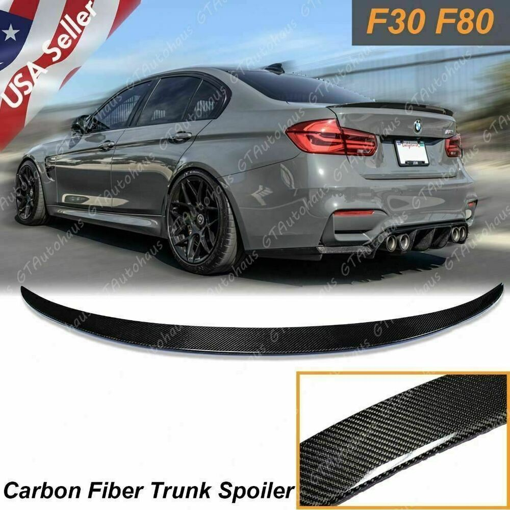 Details About For Bmw F30 F80 M3 Sedan Carbon Fiber Boot M Performance Trunk Lid Spoiler Wing
