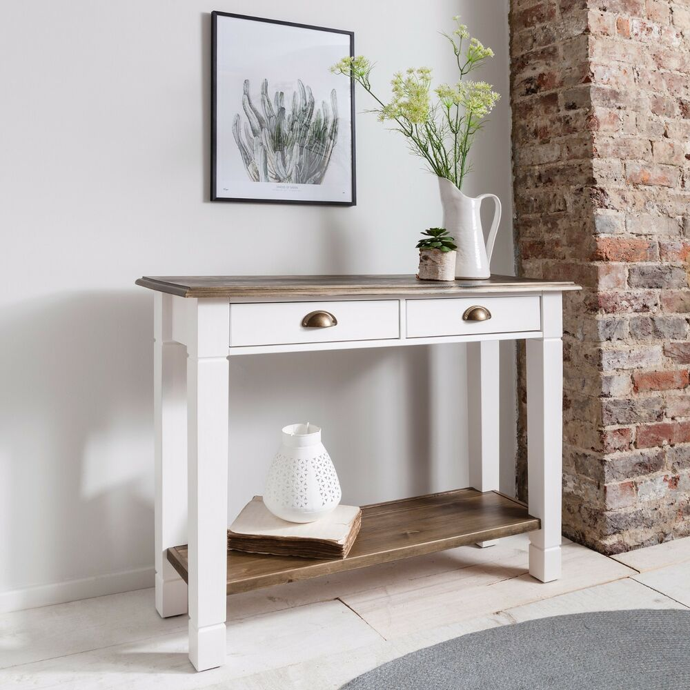 Pine console table ebay console table double telephone table hallway canterbury in choice of colours geotapseo Image collections