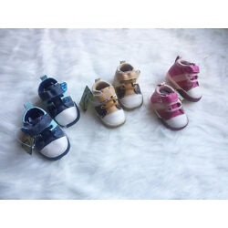 SECONDS Baby Boy Girl Leather Sneakers Shoes, size 0-3-6-12 months size 1.2.3.4