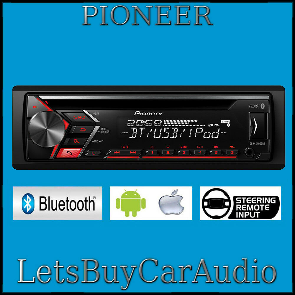 PIONEER DEH-S4000BT, BLUETOOTH, iPHONE, ANDROID, USB, AUX, SPOTIFY ...