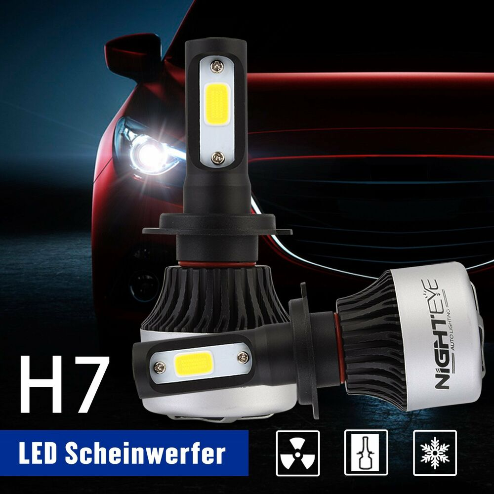 2x neu 72w h7 auto led scheinwerfer birnen headlight. Black Bedroom Furniture Sets. Home Design Ideas