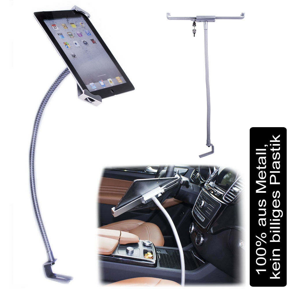 abschlie bare auto tablet halterung f r ipad samsung huawei lg car holder halter ebay. Black Bedroom Furniture Sets. Home Design Ideas