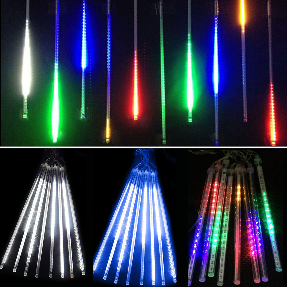 Meteor Shower Falling Star Rain Drop Icicle LED String ...