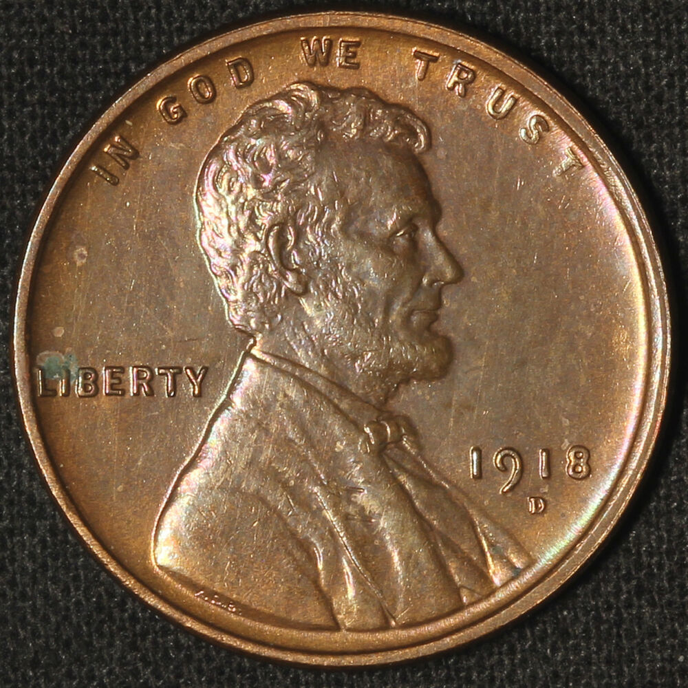 Details About 1918 D Lincoln Cent Exceptional Coin Free Shipping Usa