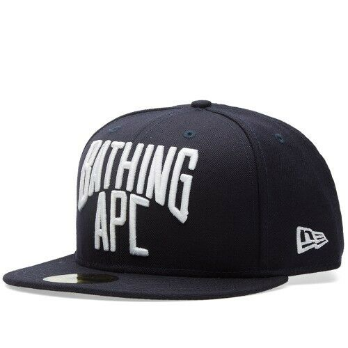c2c100c2f4a Details about A BATHING APE NYC LOGO NEW ERA CAP Navy wool Men s Baseball  Hat from Japan 7 1 2