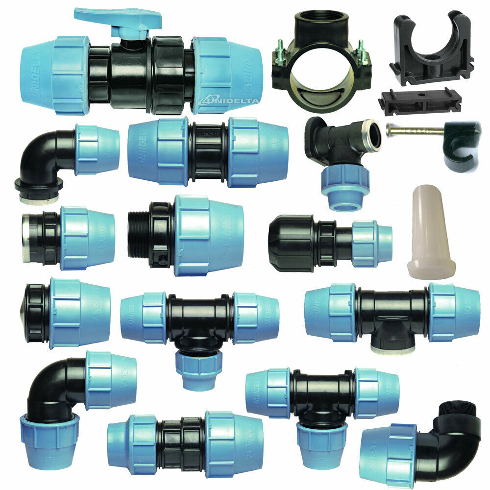 Mdpe plastic compression fitting mm o d pe ldpe water