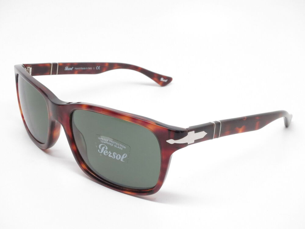 4919f05782 Details about Persol PO 3048S 24 31 Havana w Crystal Green Sunglasses  3048-S 58mm