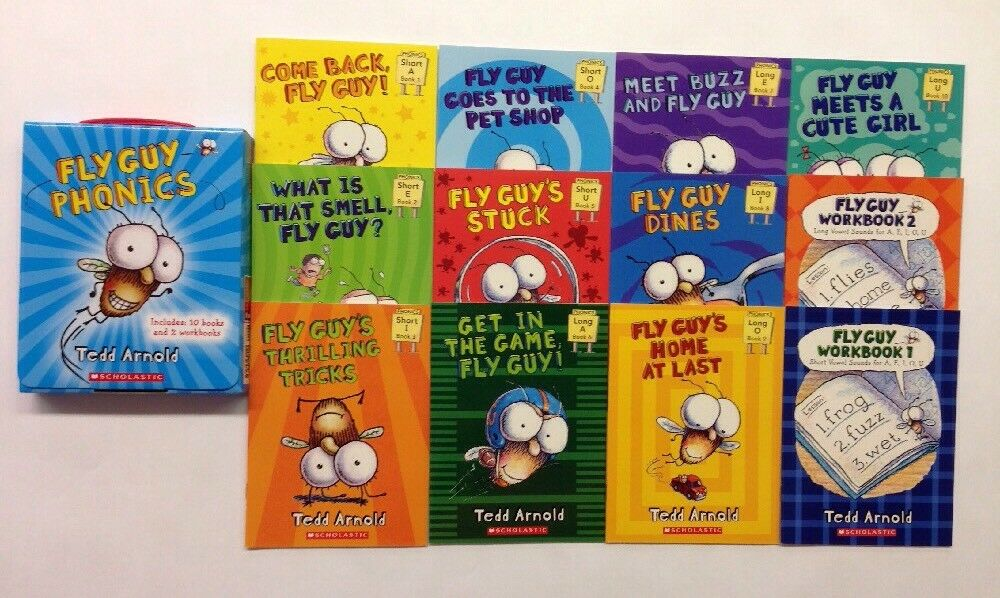 Fly Guy Childrens Books Phonics Learn To Read Box Set Lot