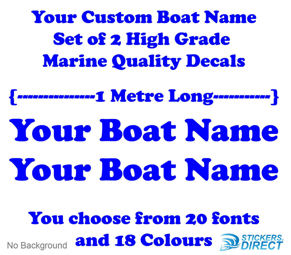 Name Your Boat Decals Decorating Ideas - Vinyl decals for boatsstreetglo boat name lettering and graphic decalsphotos in vinyl