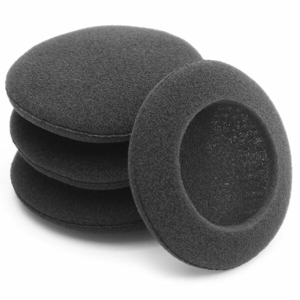 4 x Replacement Foam Ear Pads Cushions For Headphones 45mm, 50mm, 60mm, 70mm