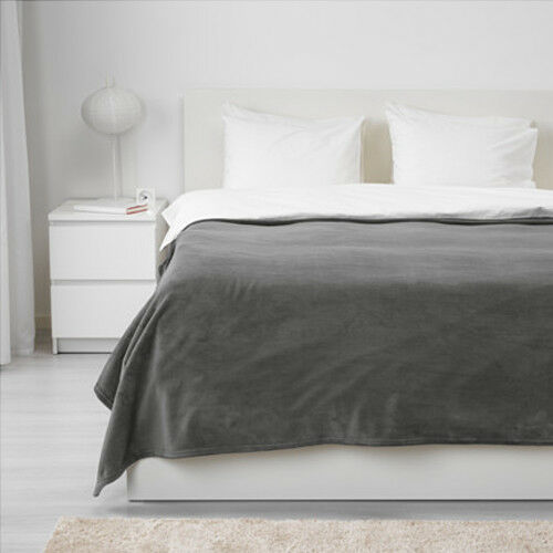 ikea trattviva plaid tagesdecke decke berwurf flauschdecke 230x250cm grau ebay. Black Bedroom Furniture Sets. Home Design Ideas