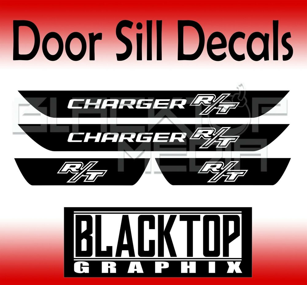 NEW! Dodge Charger R/T Door Sill Decals 2011-2017 2018