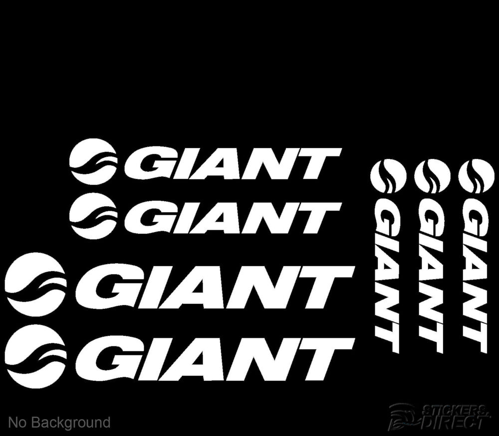 Details about giant cycling bike stickers set of 7 frame replacement decals road race mountain