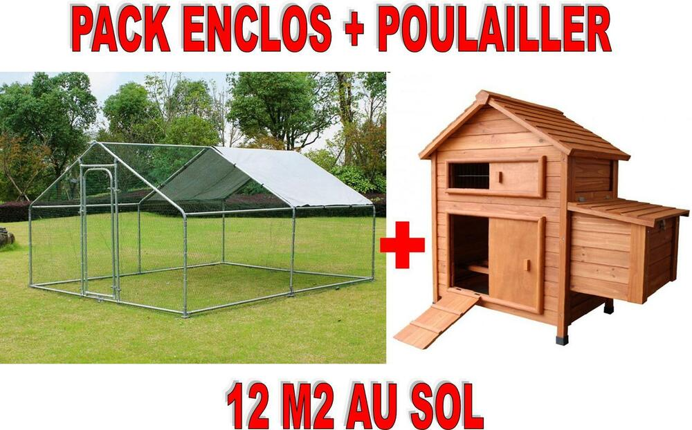 enclos poule parc pour poules 12 m2 maison des poules as1002 as4430 ebay. Black Bedroom Furniture Sets. Home Design Ideas