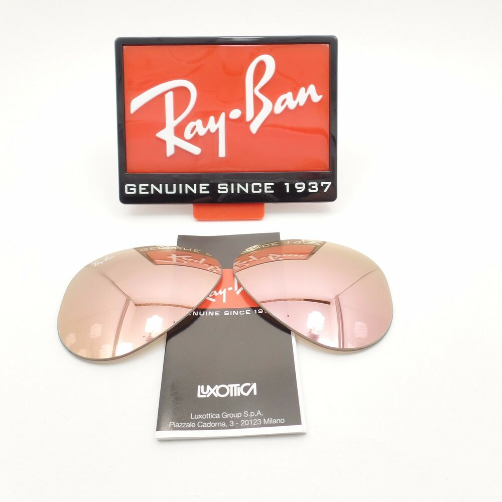 8dbcfbfb17 Details about RAY BAN REPLACEMENT LENSES AVIATOR 3025 019 Z2 Pink Mirror  New Authentic