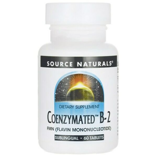 Source Naturals Coenzymated B-2 25 mg 60 Tabs