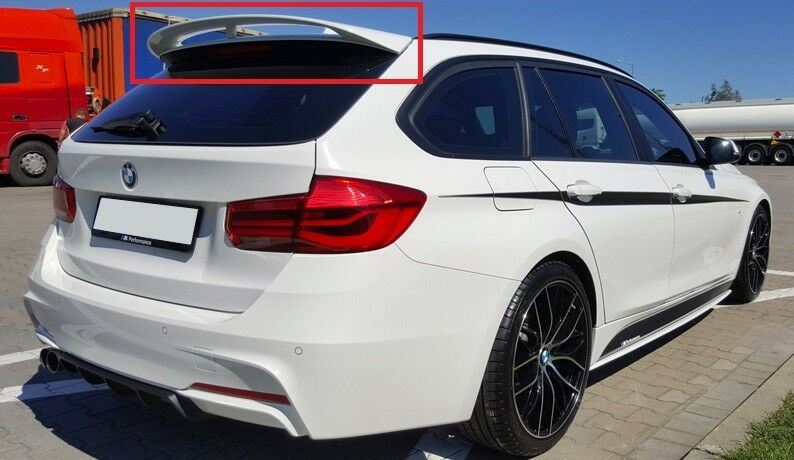 bmw 3 series f31 touring rear roof spoiler m performance look new ebay. Black Bedroom Furniture Sets. Home Design Ideas