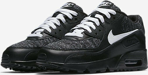 info for b8bc6 d8692 JUNIOR,S NIKE AIRMAX 90 MESH BLACK   WHITE TRAINERS AA0570-001   eBay