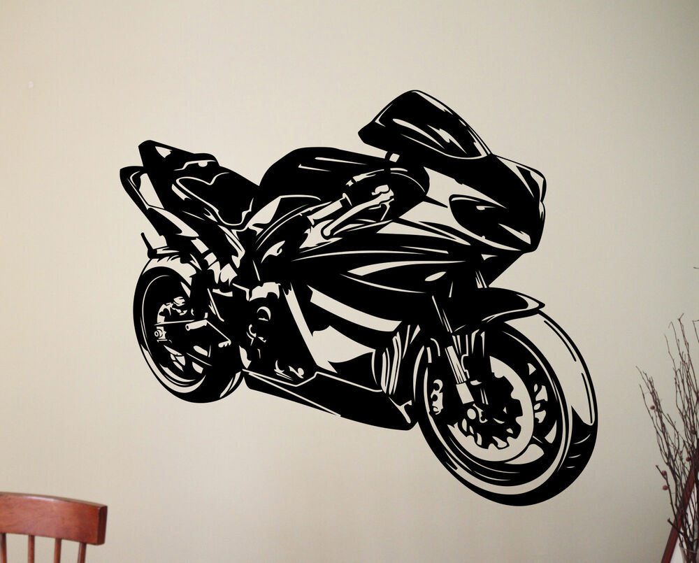 Motorcycle wall decal