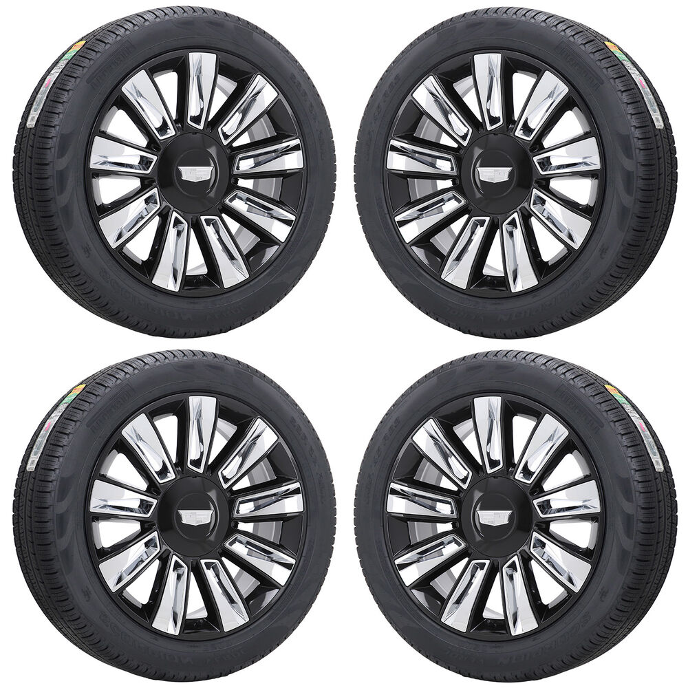 "Cadillac Escalade Platinum Price: 22"" CADILLAC ESCALADE PLATINUM BLACK WHEELS RIMS TIRES"