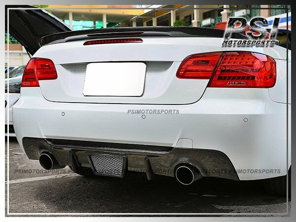 Details About Bmw E92 E93 Coupe Convertible V Type Carbon Fiber Rear Per Diffuser 335i