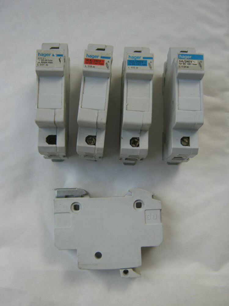 buy hager circuit breakers ebay Breaker Box hager 5a 5 amp l113 (bs 1361) cartridge fuse holder inc fuse