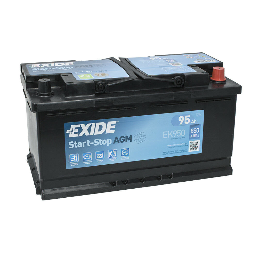 exide ek950 12v 95ah 850a agm vrla start stop autobatterie. Black Bedroom Furniture Sets. Home Design Ideas