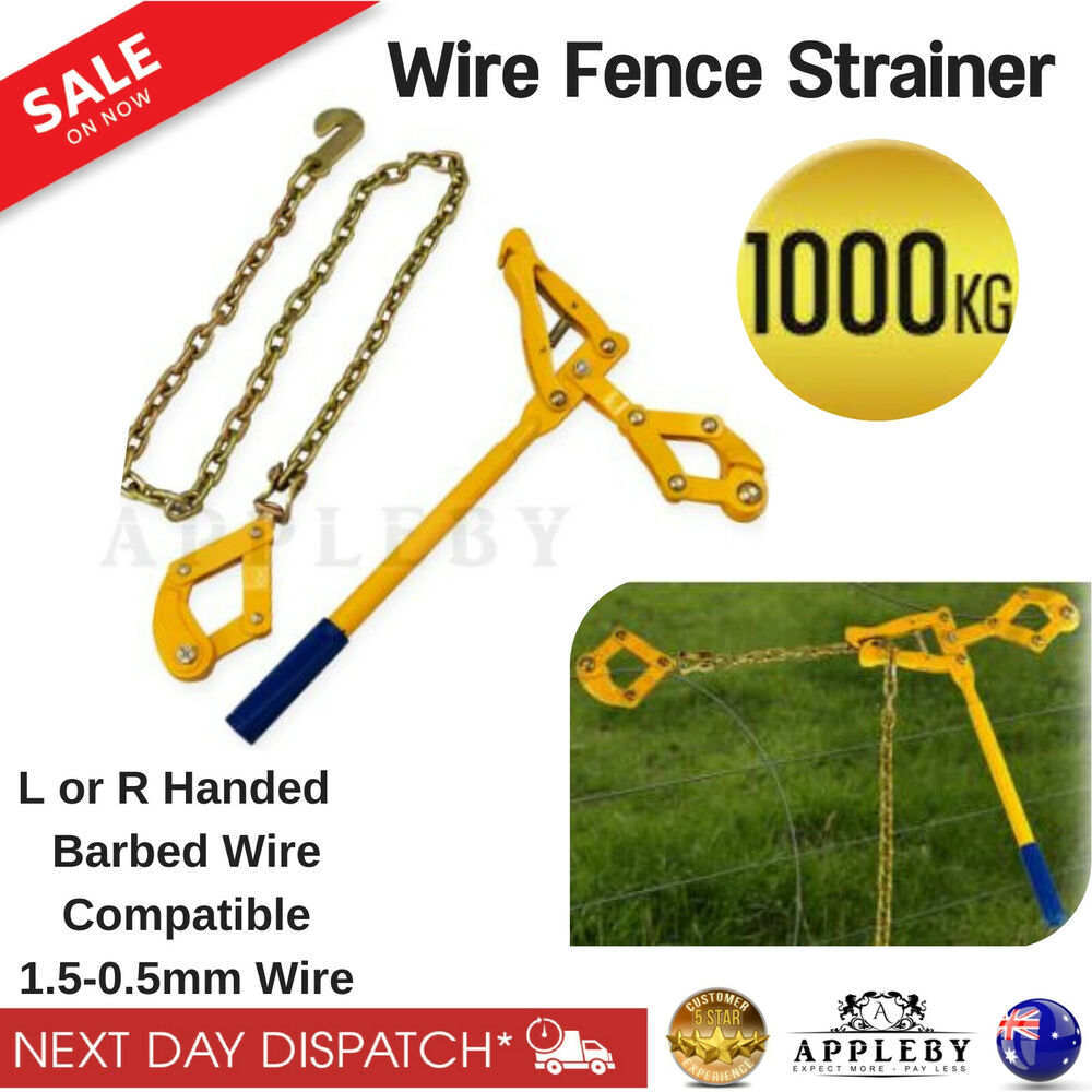 Wire Fencing Strainer Fence Repair Tool Plain Barbed Chain Ratchet ...