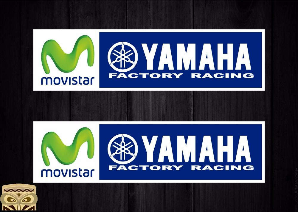 STICKER DECAL AUFKLEBER ADESIVI MOVISTAR YAMAHA FACTORY MOTOGP